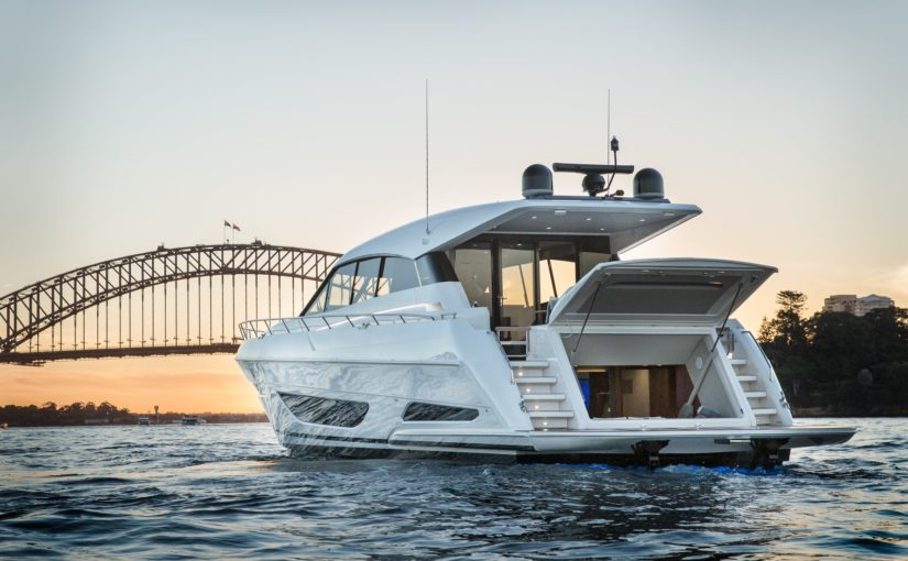 The revolutionary new Maritimo X60 in display at the Sydney International Boat S…