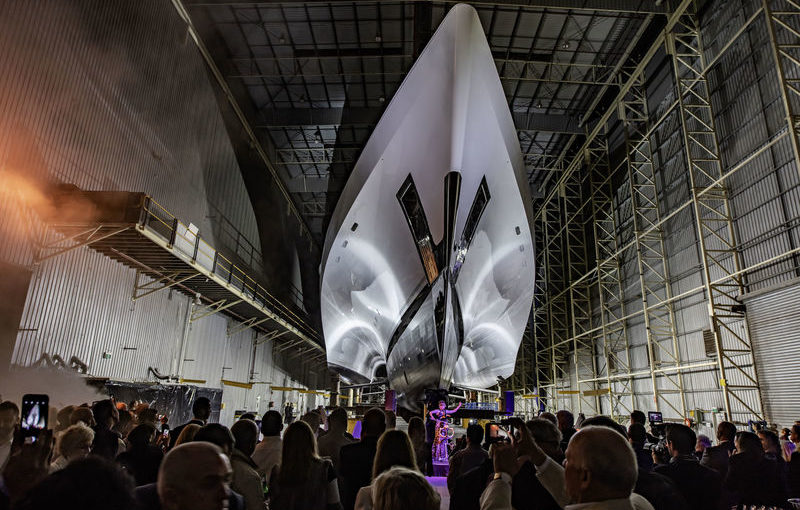 White Rabbit: World's largest trimaran superyacht ready for launch in Australia