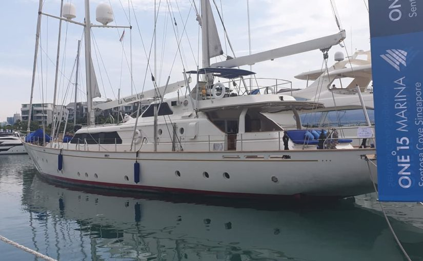 S/Y La Numero Uno is at Singapore yacht show 2019. Available for charter or for …