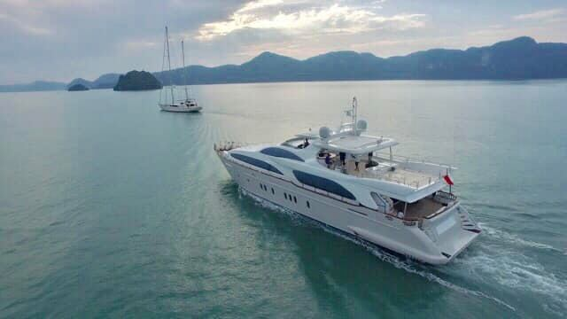Italian built superyachts in a class of their own cruising through the Malacca
